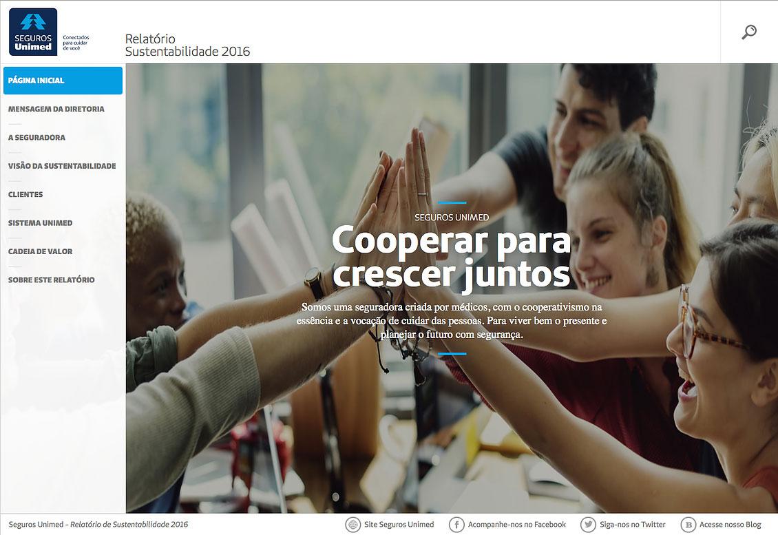 Seguros Unimed - Relatório de Sustentabilidade 2016
